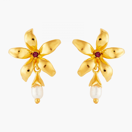 Boucles D'oreilles Tiges Boucles d'oreilles tiges jasmin étoilé et perle90,00€ ANJA102T/1Les Néréides