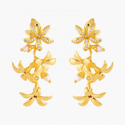Boucles D'oreilles Pendantes Boucles d'oreilles tiges grappe de jasmin étoilé170,00€ ANJA103T/1Les Néréides