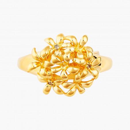 Bracelet couture fleurs, glands de chêne, mûres et feuilles émaillés