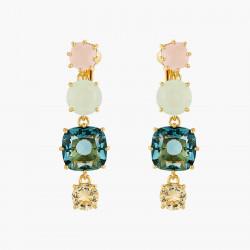 Boucles D'oreilles Clip Boucles D'oreilles Clip 4 Pierres La Diamantine Acqua Azzura80,00€ ANLD120C/1Les Néréides
