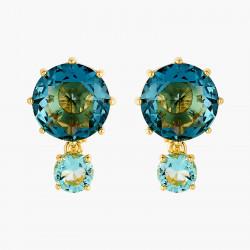 Boucles D'oreilles Clip Boucles D'oreilles Clip Pierres Rondes La Diamantine Acqua Azzura60,00€ ANLD126C/1Les Néréides