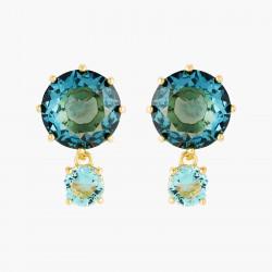 Boucles D'oreilles Pendantes Boucles D'oreilles Tiges Pierres Rondes La Diamantine Acqua Azzura60,00€ ANLD126T/1Les Néréides