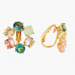 Boucles D'oreilles Clip Créoles Clip 6 Pierres La Diamantine Acqua Azzura80,00€ ANLD142C/1Les Néréides