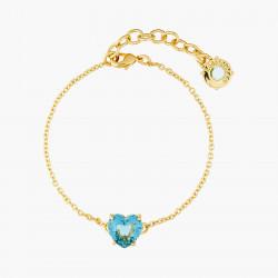 Bracelets Fins Bracelet Fin Pierre Cœur La Diamantine Acqua Azzura50,00€ ANLD253/1Les Néréides
