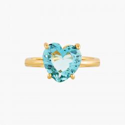Bague Solitaire Bague solitaire pierre cœur la diamantine acqua azzura50,00€ ANLD617/1Les Néréides