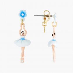 Boucles D'oreilles Pendantes Boucles D'oreilles Tiges Mini Ballerine Fleur De Myosotis70,00€ ANMDD101T/1Les Néréides
