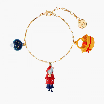 Bracelets Originaux Bracelet Petite Souris Le Petit Chaperon Rouge Champignon Et Morceaux De Fromage65,00€ ANNA203/1N2 by Le...