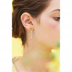 Boucles D'oreilles Clip Boucle D'oreille Pendante Clip Fleur De Glycine Et Feuillage140,00€ ANOF104C/1Les Néréides
