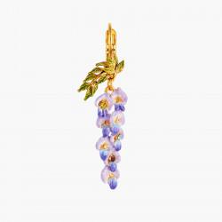Boucles D'oreilles Dormeuses Boucle D'oreille Pendante Dormeuse Fleur De Glycine Et Feuillage140,00€ ANOF104D/1Les Néréides