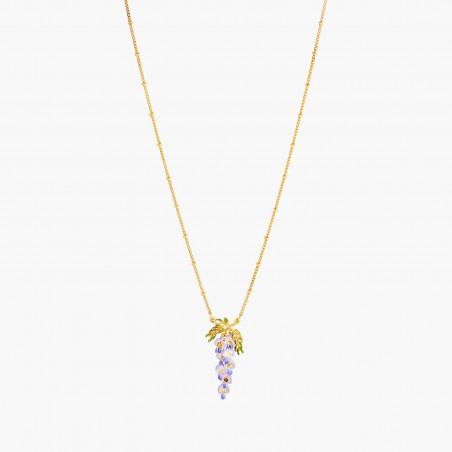 White asymmetrical blond ballerina earrings