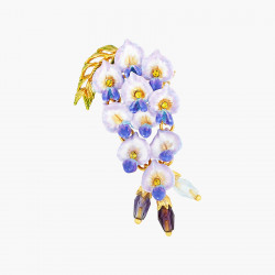 Wisteria Flower Brooch