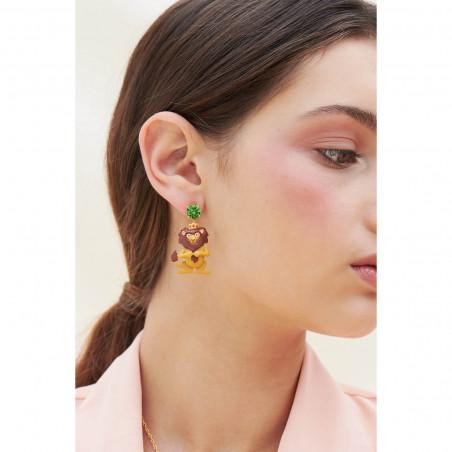 Daisy and little flowers earrings