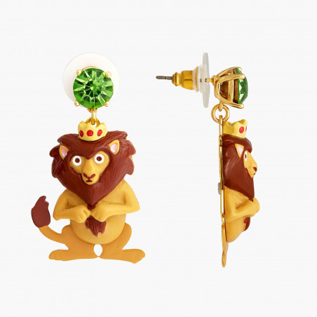 Boucles d'oreilles clip coquelicot