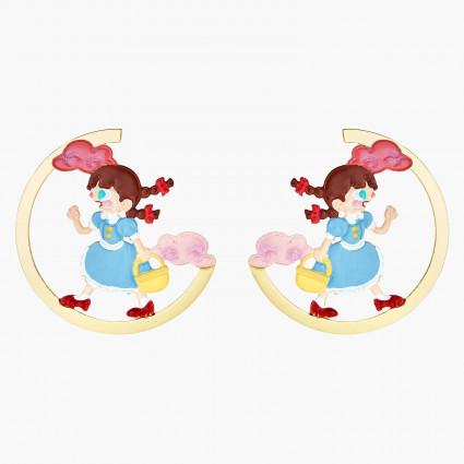 Boucles D'oreilles Originales Boucles d'oreilles tiges asymétriques dorothy le magicien d'oz80,00€ ANOZ103T/1N2 by Les Néréides