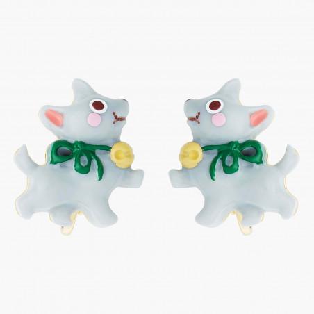 Boucles d'oreilles petit coquelicot et fermoir fleuri ajustable