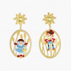 Boucles D'oreilles Originales Boucles D'oreilles Clips Asymétriques Dorothy Et L'ecervelé Épouventail Le Magicien D'oz90,00€...