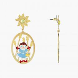Boucles D'oreilles Originales Boucles D'oreilles Tiges Asymétriques Dorothy Et L'ecervelé Épouventail Le Magicien D'oz90,00€...