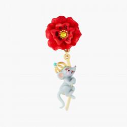 Boucles D'oreilles Originales Boucles D'oreilles Tiges Rat Et Coquelicot Le Magicien D'oz75,00€ ANOZ109T/1N2 by Les Néréides