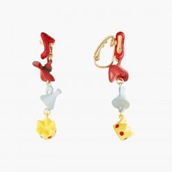 Boucles D'oreilles Originales Boucles D'oreilles Clips Soulier, Chapeau, Entonnoir Et Courone Le Magicien D'oz85,00€ ANOZ111...