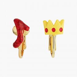 Boucles D'oreilles Originales Boucles D'oreilles Clips Asymétriques Soulier Et Courone Le Magicien D'oz45,00€ ANOZ112C/1N2 b...