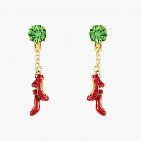 Cherry blossom and faceted glass french hook earrings
