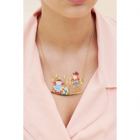 Crocodile, blue stone and tropical flower earrings