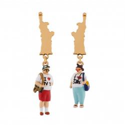 Boucles D'oreilles Boucles D'oreilles Asymétriques Touristes Et Statut De La Liberté