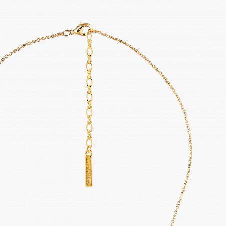 Collier de perle d'eau douce, nœud et perle bicolore