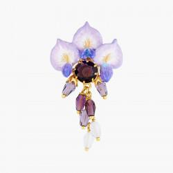 Boucles D'oreilles Clip Boucles D'oreilles Clip Fleur De Glycine Et Perles Et Pierre De Verre Facetté220,00€ ANOF101C/1Les N...
