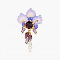 Boucles D'oreilles Pendantes Boucles D'oreilles Tige Fleur De Glycine Et Perles Et Pierre De Verre Facetté220,00€ ANOF101T/1...