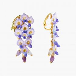 Boucles D'oreilles Clip Boucle D'oreille Pendante Clip Fleur De Glycine250,00€ ANOF102C/1Les Néréides