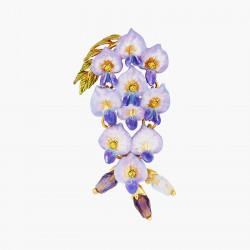 Boucles D'oreilles Pendantes Boucle D'oreille Pendante Tige Fleur De Glycine250,00€ ANOF102T/1Les Néréides