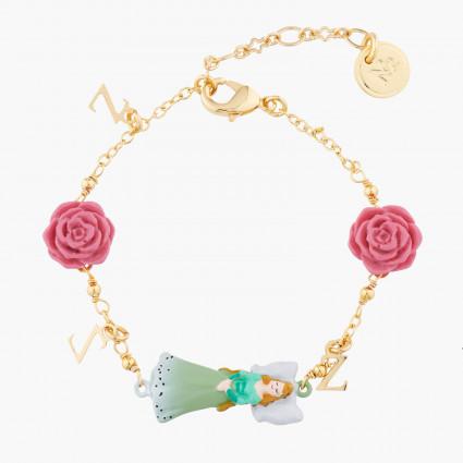 Bracelets Originaux Bracelet Fin À Chaîne Belle Endormie Et Roses65,00€ AKSB201/1N2 by Les Néréides