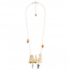 Colliers Collier New-yorkais Hélant Un Taxi À Times Square