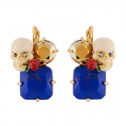 Skull On Stone Earrings