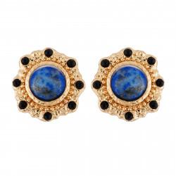 Boucles D'oreilles Tiges Boucles D'oreilles Style Bizantin Pierre Bleue