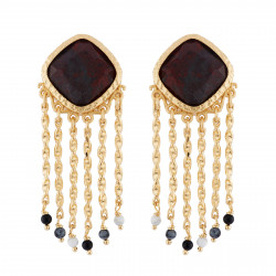 Earrings With Red Stone,...