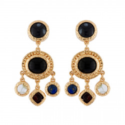 Earrings With Black Stones...