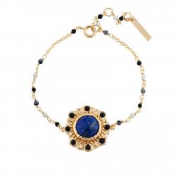 Blue Stone Pearled Bracelet