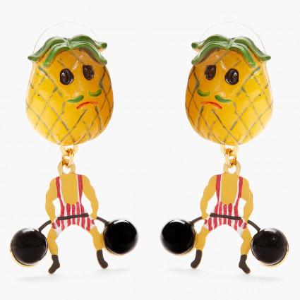 Boucles D'oreilles Originales Boucles d'oreilles tiges ananas fruit circus70,00€ ANFC106T/1N2 by Les Néréides