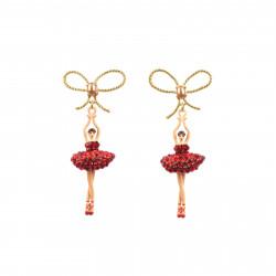 Boucles D'oreilles Pendantes Boucles d'oreilles tiges ballerine asymétriques tutu pavé de strass rouges110,00€ AADDL108T/1Le...