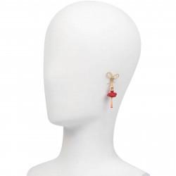 Lovebird and little heart necklace