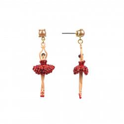 Boucles D'oreilles Pendantes Boucles d'oreilles tiges ballerine sur pointe tutu pavé de strass rouges110,00€ AADDL115T/1Les ...
