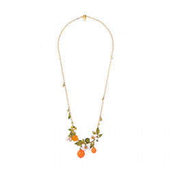 Colliers Plastrons Collier Plastron Fleurs D'oranger Et Oranges195,00€ ABJP305/1Les Néréides