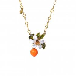 Colliers Pendentifs Collier Pendentif Orange, Fleur D'oranger Et Petites Perles95,00€ ABJP313/1Les Néréides