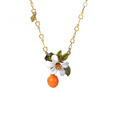 Hummingbird and faceted glass necklace