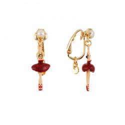 Boucles D'oreilles Clip Boucles D'oreilles Clip Mini Ballerine En Tutu Rouge70,00€ AEMDD101C/6Les Néréides
