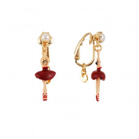 """Enamelled """"Paris"""" and little flowers necklace"""