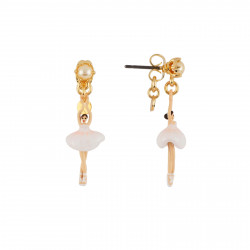 Boucles D'oreilles Pendantes Boucles D'oreilles Mini Ballerine En Tutu Blanc70,00€ AEMDD101T/1Les Néréides