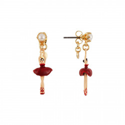Boucles D'oreilles Pendantes Boucles D'oreilles Mini Ballerine En Tutu Rouge70,00€ AEMDD101T/6Les Néréides